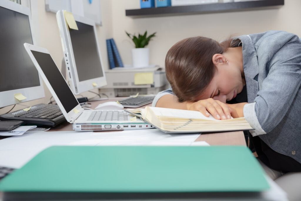 Exhausted Office Worker