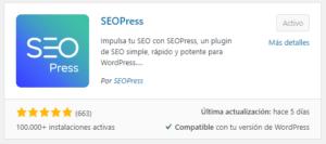 Seopress Mejor Plugin Seo WordPress